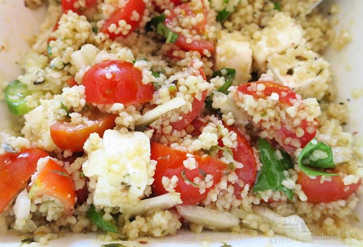 salade de semoule au tomate, fenouil et concombre
