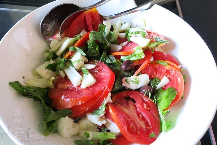 salade tomate,fenouil, mozzarella