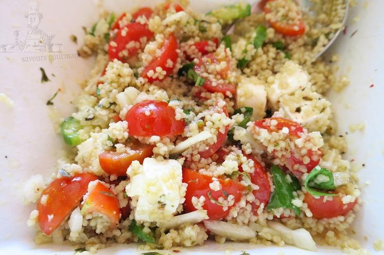 salade de semoule au tomate, fenouil, concombre et feta 1