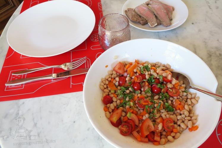 Salade de haricot au tomate et carotte 1