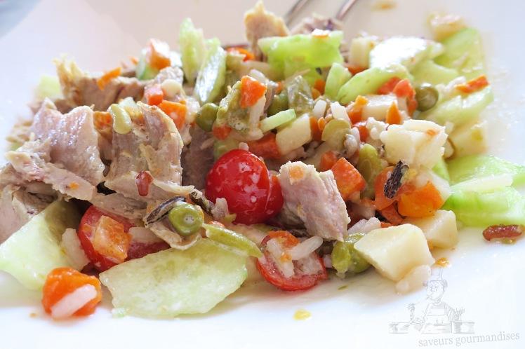 Salade de riz au mixte légumes, tomate, concombre et dinde 1.JPG
