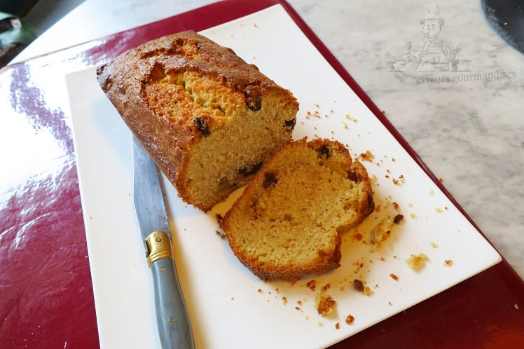 Cake au Citron et raisins sec