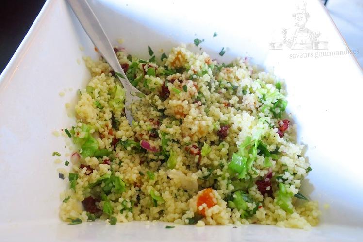 Salade de couscous, méli-melo de légumes 1